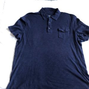 Joe Fresh Men's navy polo shirt. Size medium